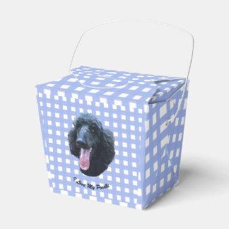 Black Poodle on Blue Gingham Favour Box
