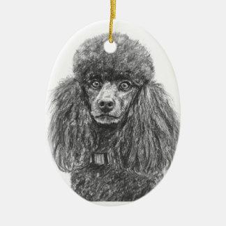 Black Poodle Ornament