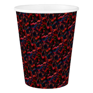 Black Poppies Paper Cup