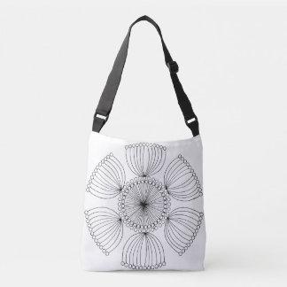 Black Poppy Seed Mandala Crossbody Bag