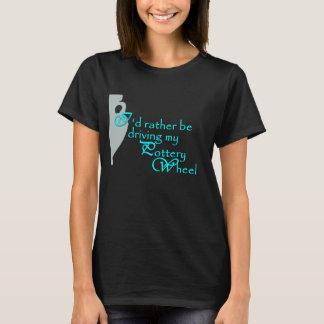 Black Pottery Wheel themed T-Shirt