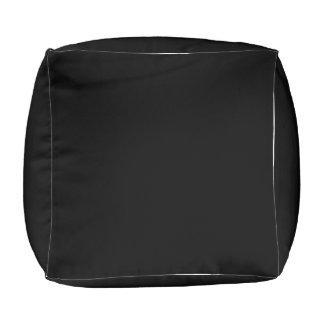 Black pouf SBN rocks