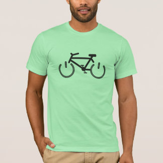 Black Power Bike with White Rims T-Shirt