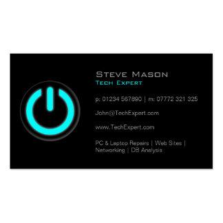 Black Power Button Technology - Business Card