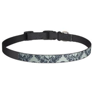 Black Print Design Large Dog Collar