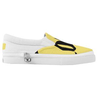 black print love sneaker slip on shoes