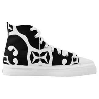 Black printed designer sneakers