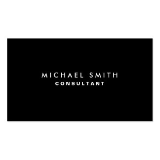 Black Professional Elegant Modern Plain Simple Pack Of Standard Business Cards
