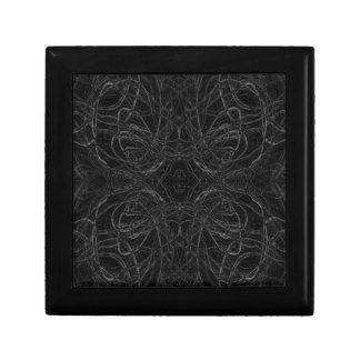 Black psychedelic pattern gift box