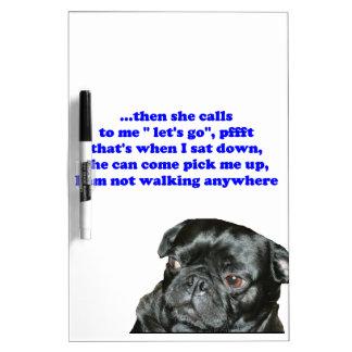 black pug dry erase board