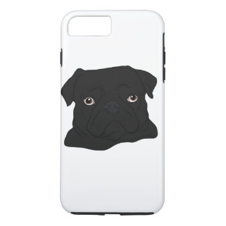 Black Pug iPhone 8 Plus/7 Plus Case