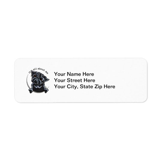 Black Pug Its All About Me Return Address Label