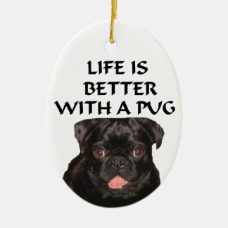 black pug ornament