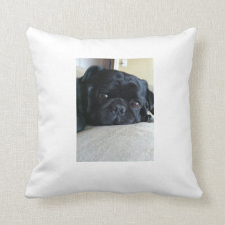 Black Pug Pillow Cushions