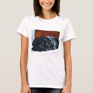 Black Pug Puppy Resting T-Shirt