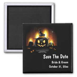 Black Pumpkin Save The Date Magnet