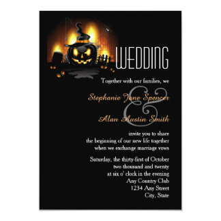 Black Pumpkin Wedding Invitation