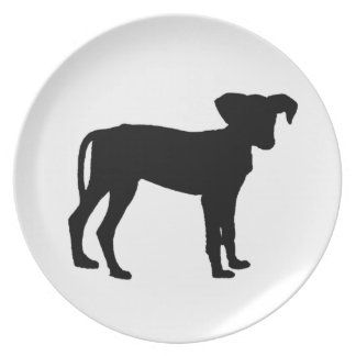 Black puppies plate