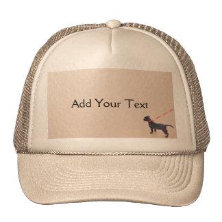 Black Puppy Prints on the Beach Cap Trucker Hats