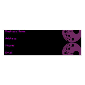 Black & Purple Abstract Business Card