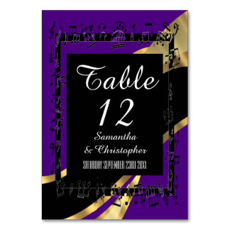 Black purple and gold personalised card