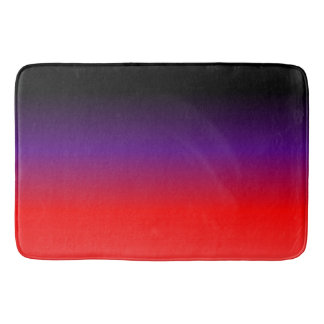 Black, Purple and Red Gradient Bath Mat