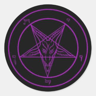 Black/Purple Baphomet Stickers