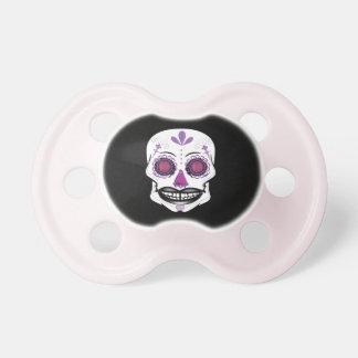 Black Purple Candy Skull Pacifier