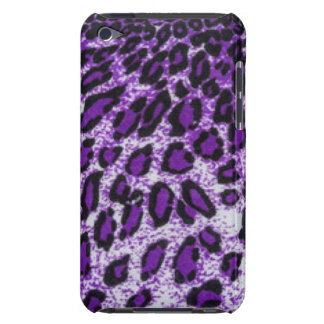 Black Purple Leopard Pattern Print Design Barely There iPod Cases
