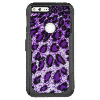 Black Purple Leopard Pattern Print Design OtterBox Commuter Google Pixel XL Case