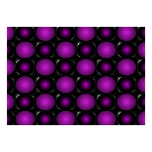 Black & Purple Spheres 3D Textured Design Business Card