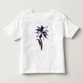 Black Purple & White Swirly Flower by Naomi T Shirts