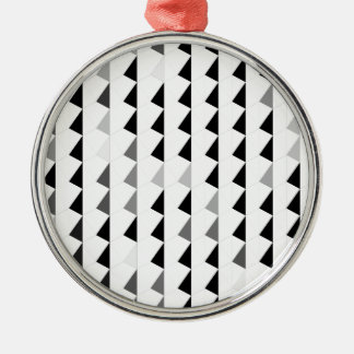 black pyramid pattern 04 Silver-Colored round decoration