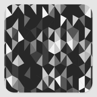black pyramid pattern 07 square sticker