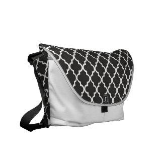 Black Quatrefoil Commuter Bags