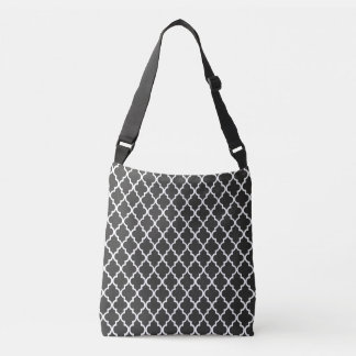 Black Quatrefoil Crossbody Bag