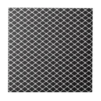 Black Quatrefoil Tile