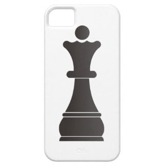 Black queen chess piece iPhone 5 cover