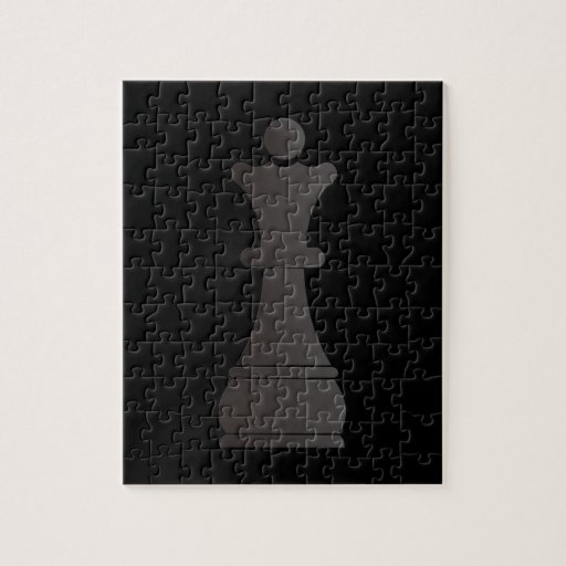 Black queen chess piece puzzle