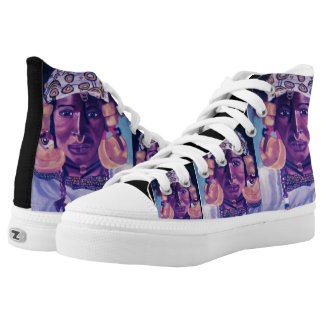 BLACK QUEEN high tops Printed Shoes