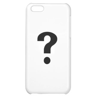 Black Question Mark Cover For iPhone 5C
