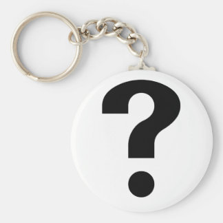 Black Question Mark Keychain