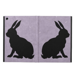 Black Rabbit Silhouette Easter Bunny iPad Air Cases