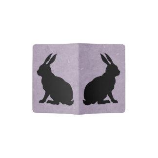 Black Rabbit Silhouette Easter Bunny Passport Holder