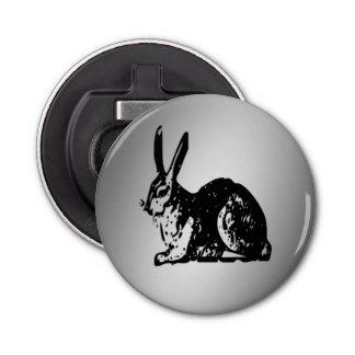 Black Rabbiton Silver Bottle Opener
