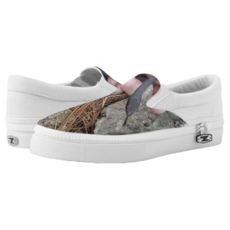 Black racer slip on shoes