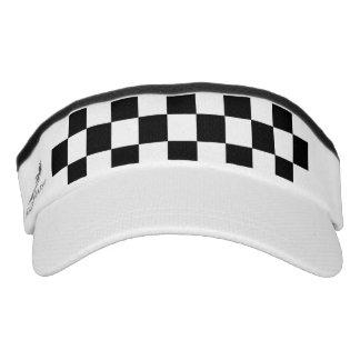 Black Racing Checkered Flag Display Visor
