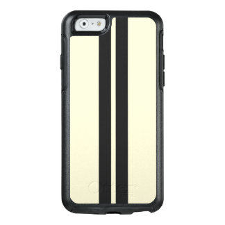 Black Racing on Pepper White Stripes Any Color OtterBox iPhone 6/6s Case