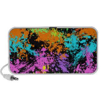 Black Rainbow Splattered iPhone Speaker