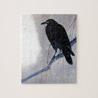 Black Raven Bird Antique Puzzles